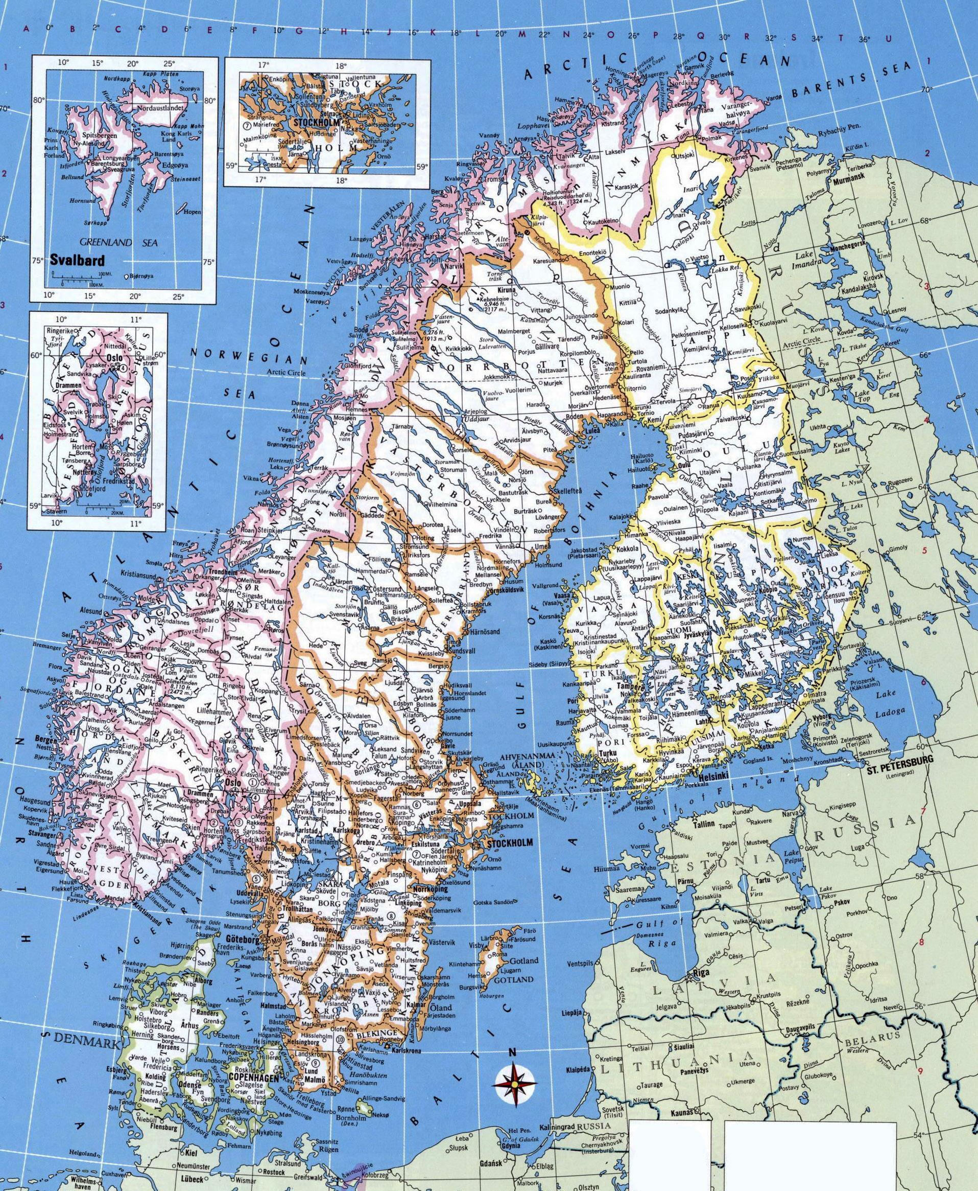 Detaljeret Kort Over Norge Kort Med Detaljerede Norge I Det