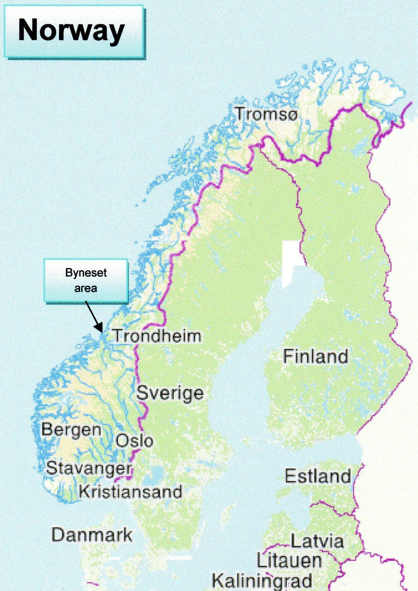 Trondheim Norge Kort Kort I Trondheim Norge I Det Nordlige