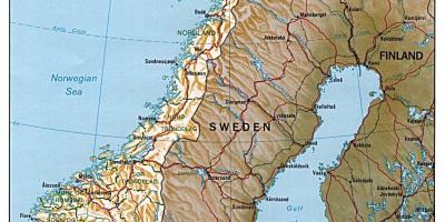 Norge Kort Kort Norge I Det Nordlige Europa
